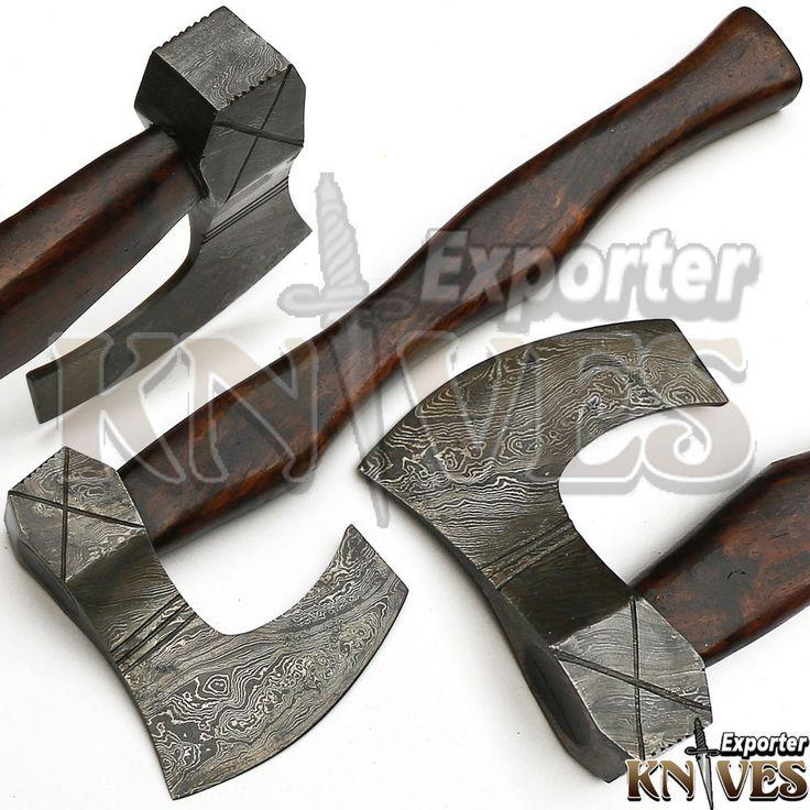 KNIVES EXPORTER New Tomahawk Viking Bearded Wooden Handle ...