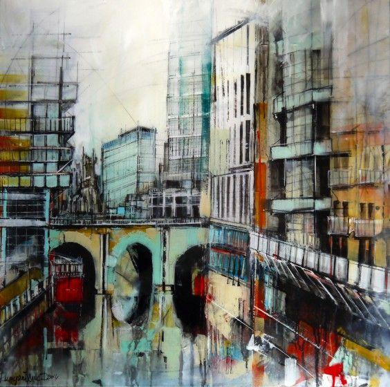 Manchester River Irwell (Framed) by Irina Rumyantseva