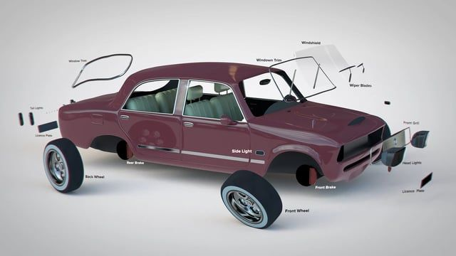 Found this really nice 3D Fiat model from Pixel Lap and couldn't help but play around with it. I did all the animation, lighting and texturing, and you can find the free static model here: https://www.thepixellab.net/free-c4d-model-classic-car-3d.  See a GIF with a layered view of the rendering progression here: http://www.justinpoore.com/3d-exploding-car/  I've also made the video downloadable. So feel free to download and do whatever you want with it. Enjoy!