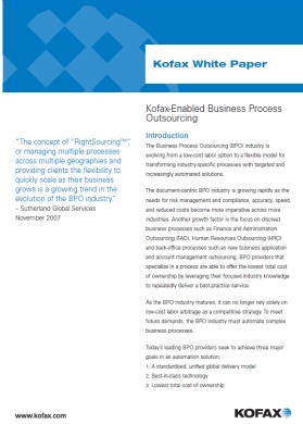 Kofax-Enabled Business Process Outsourcing