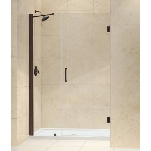 "Dreamline SHDR-20457210-06 Unidoor 45"" - 46"" Frameless Hinged Shower Door with 18"" Side Panel and Support Arm"