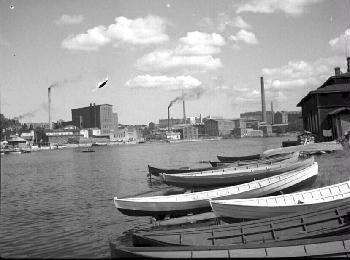 Tampere, Ratinan suvanto ja alasatama. 1930-luku. Tampereen museot.