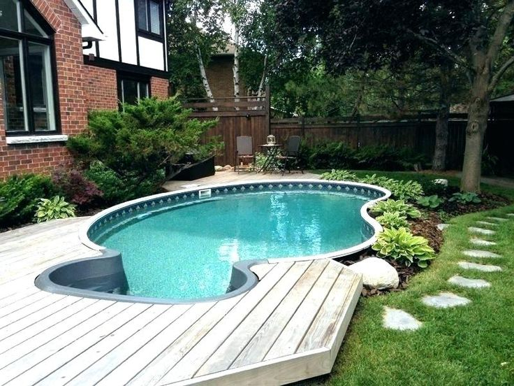 ground above pool landscaping landscape swimming pools inground backyard deck pretty htic rossiya