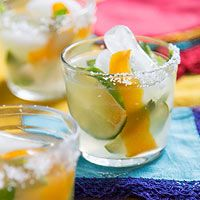 """El Perro Salty Cocktail Large Batch  Margaritas aren't the only option for a great Mexican party cocktail. This tasty salty dog-mojito hybrid can be mixed one at a time or in a large batch for a crowd. Made with Mexican grapefruit soda, Acheson wittily dubbed the drink """"El Perro Salty."""""""