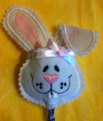 Easter Bunny Sucker Pocket/Cover Embroidery by RainDanceDesignz, $4.00
