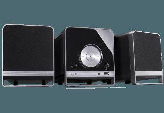 De Akai AMC310 miniset bedient de muziekliefhebber op zijn of haar wenken met een scala aan afspeelmogelijkheden.