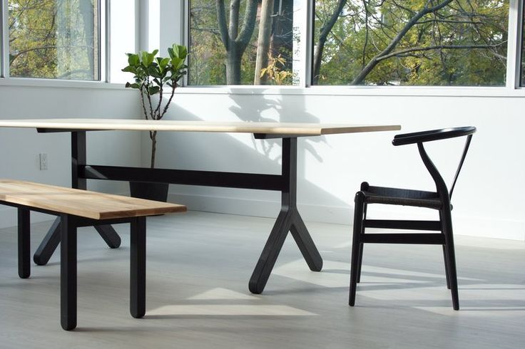 Our dining room table 002. Part of a series of solid wood dining tables, Kroft furniture, Toronto
