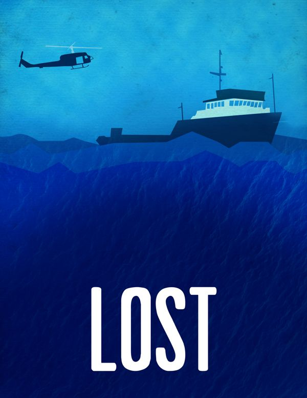 Lost: Season 4 (2008)  - Minimal TV Poster by Andrew Curtis #minimaltvposters #alternativetvposters #andrewcurtis #lostminimal