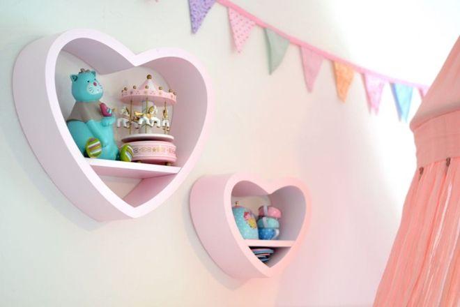 Alice & Fox Bokhylla Hjärta 3-p Grön #jollyroom #alice&fox #bokhylla #hjärta #kidsroom #barninspo #barninredning