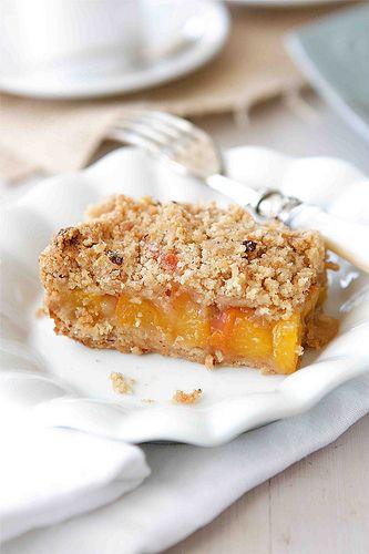 Peach Crumb Bars with Hazelnut Streusel | Recipe | Bar ...
