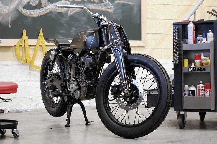 honda cg 125 by caf racer dream motorcycles and other two wheels with style pinterest. Black Bedroom Furniture Sets. Home Design Ideas