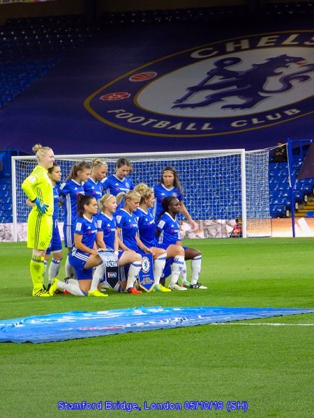 Chelsea Ladies' first match at the Bridge. A Champions League tie against VFL Wolfsburg.