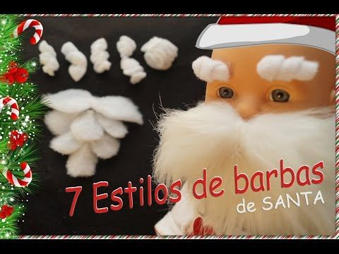 7 Tipos de barbas de Papá Noel- Santa Claus - Viejo Pascuero. A mano! - YouTube