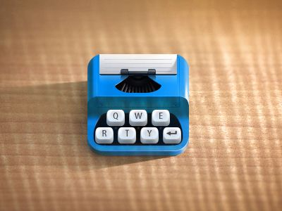 Dribbble - Typewriter by Skelet Art