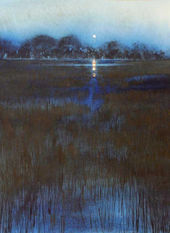 Naomi Tydeman RI, Moon Over Trees