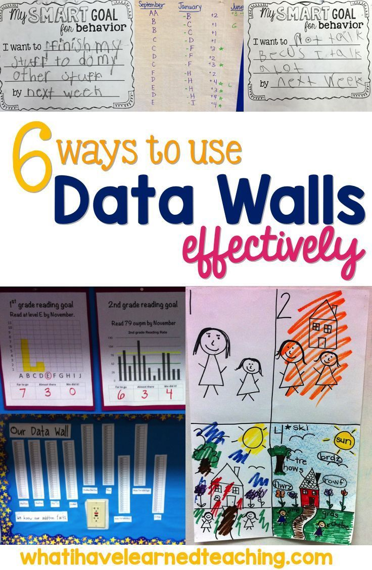 6 Ways to Use Data Walls Effectively by What I Have Learned. Some great tips on how to use data walls to build up students and help them meet their goals.