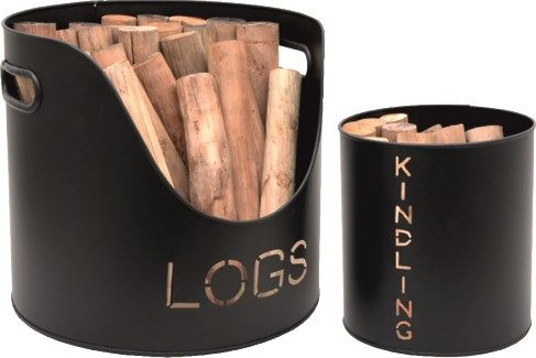 Set of two log and kindling bucket. The ideal fireside accessories to keep your…
