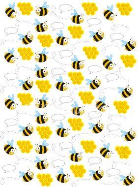 Bee Pattern Art Illustration