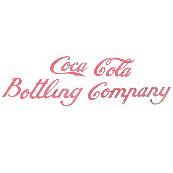 Early 20th Century Coca Cola Bottling Company Sign | From a unique collection of antique and modern signs at https://www.1stdibs.com/furniture/folk-art/signs/