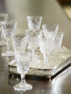 Special occasion glasses and candleholders will seriously shine on your table. How to make them shine