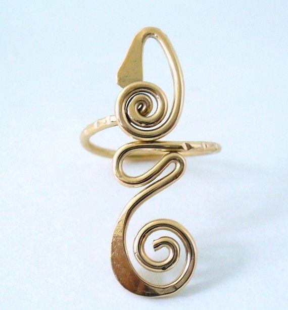 12k Gold Filled Long Toe Ring by forkwhisperer on Etsy, $25.00