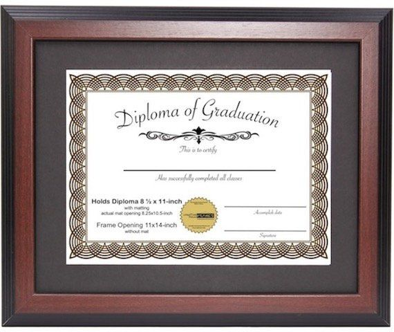 This Mahogany Certificate Frame Displays 8 5x11 Inch W Mat Or 11x14 Inch Diploma Frame Certificate F Diploma Frame Display Certificate Frames Frame Display