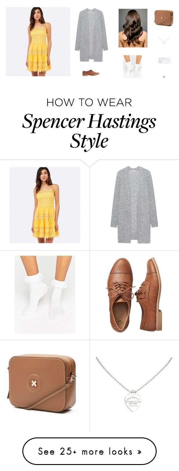 """""""Spencer Hastings Inspired """" by elishamartin on Polyvore featuring Acne Studios, Tiffany & Co., Gap and Monki"""