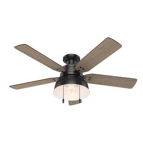 52 Mill Valley 5 Blade Ceiling Fan Light Kit Included In 2019 Black Ceiling Fan Flush Mount Ceiling Fan Ceiling Fan