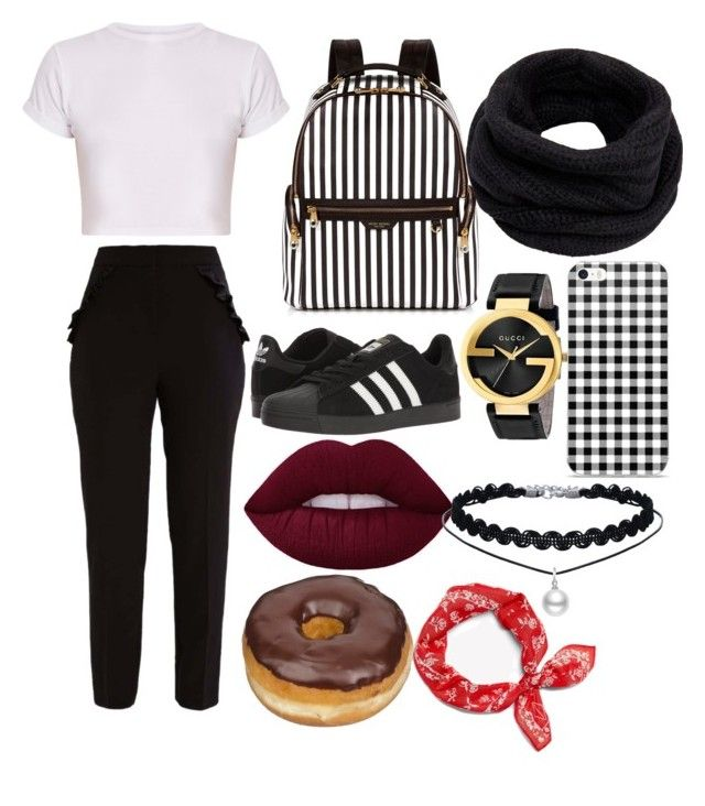 """Ropa"" by valentina-carvajal92005 on Polyvore featuring Miss Selfridge, adidas, Gucci, Henri Bendel, Helmut Lang and rag & bone"
