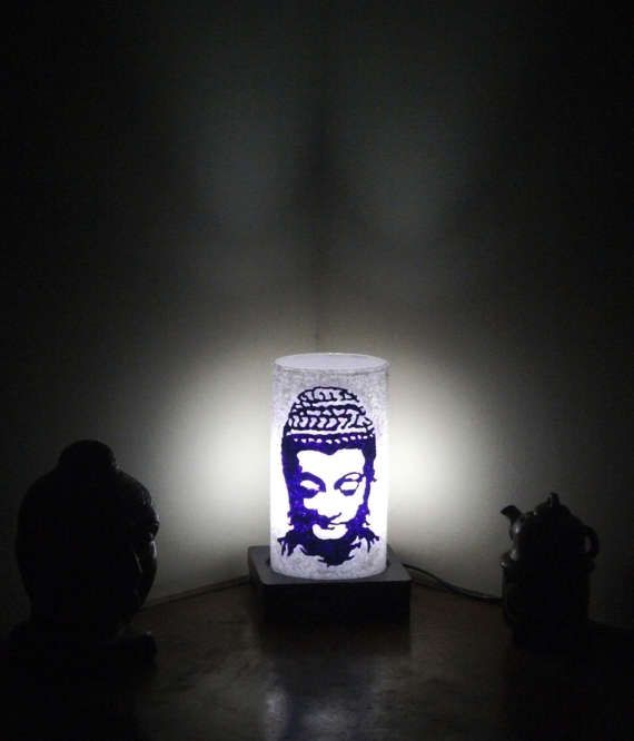 Buddha Lamp Silhouette Purple by Aartico on Etsy