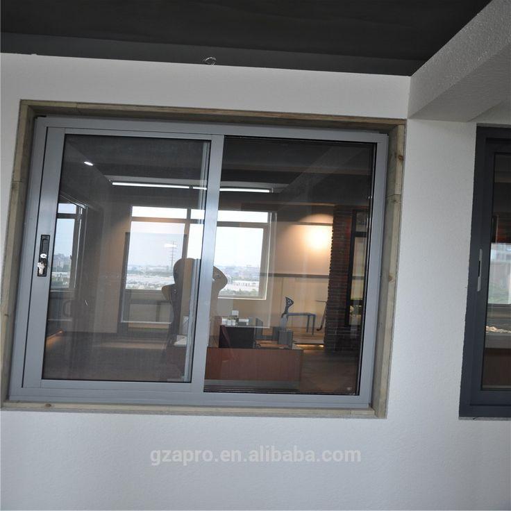 modern house design aluminum sliding window lock with fly screen,price aluminum