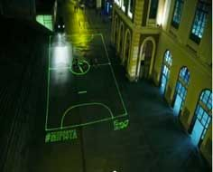 Nike Projects Laser Beam Soccer Fields Onto City Streets [Video]