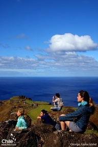 "Orongo, Easter Island, #Chile: Birthplace of the ""Birdman"""