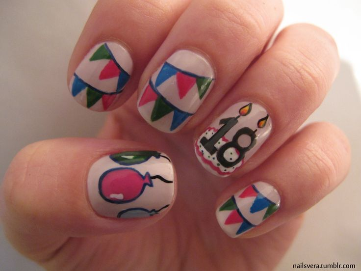 36 best nails birthday images on pinterest nail designs fashion nailsvera nail nails nailart birthday party prinsesfo Choice Image
