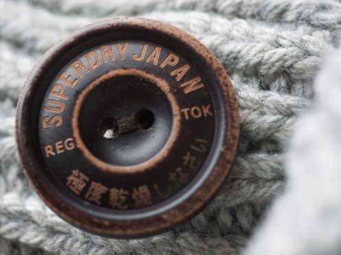 Attention to detail on Superdry knitwear.