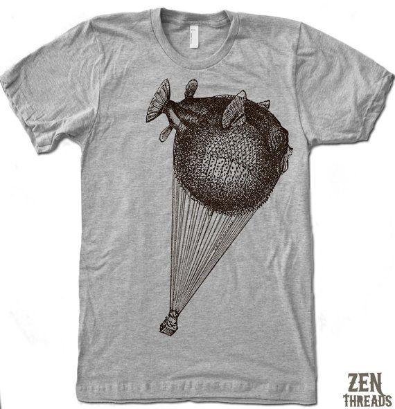 Bought: Men's BALLOON FISH t shirt by ZenThreads