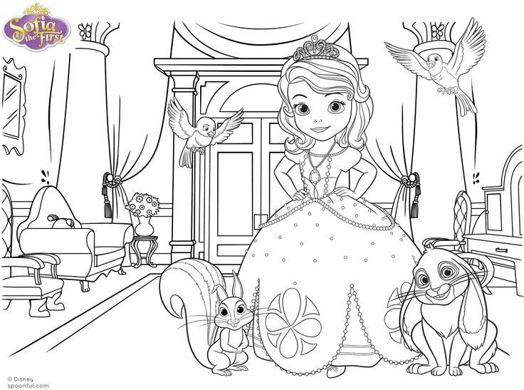 Cumpleaos Decorado De Princesa Sofa Sofia The FirstDisney PrincessColoring PagesBePlaces