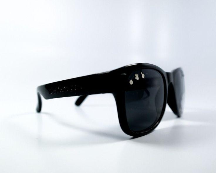 bueller (black) baby shades - ro•sham•bo baby - sunglasses - kids sunglasses - baby sunglasses - 1