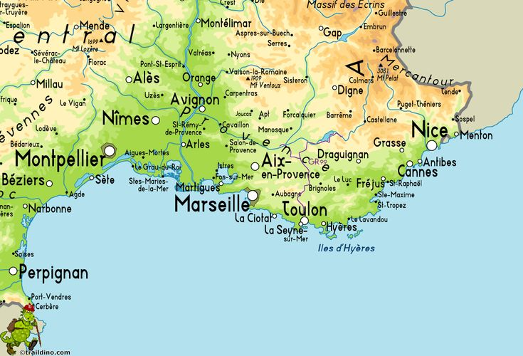 Map Of Provence France With Cities.Map Of South Coast Of France Kameroperafestival