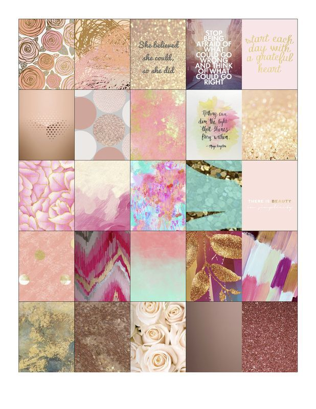 Free Rose Gold Planner Stickers