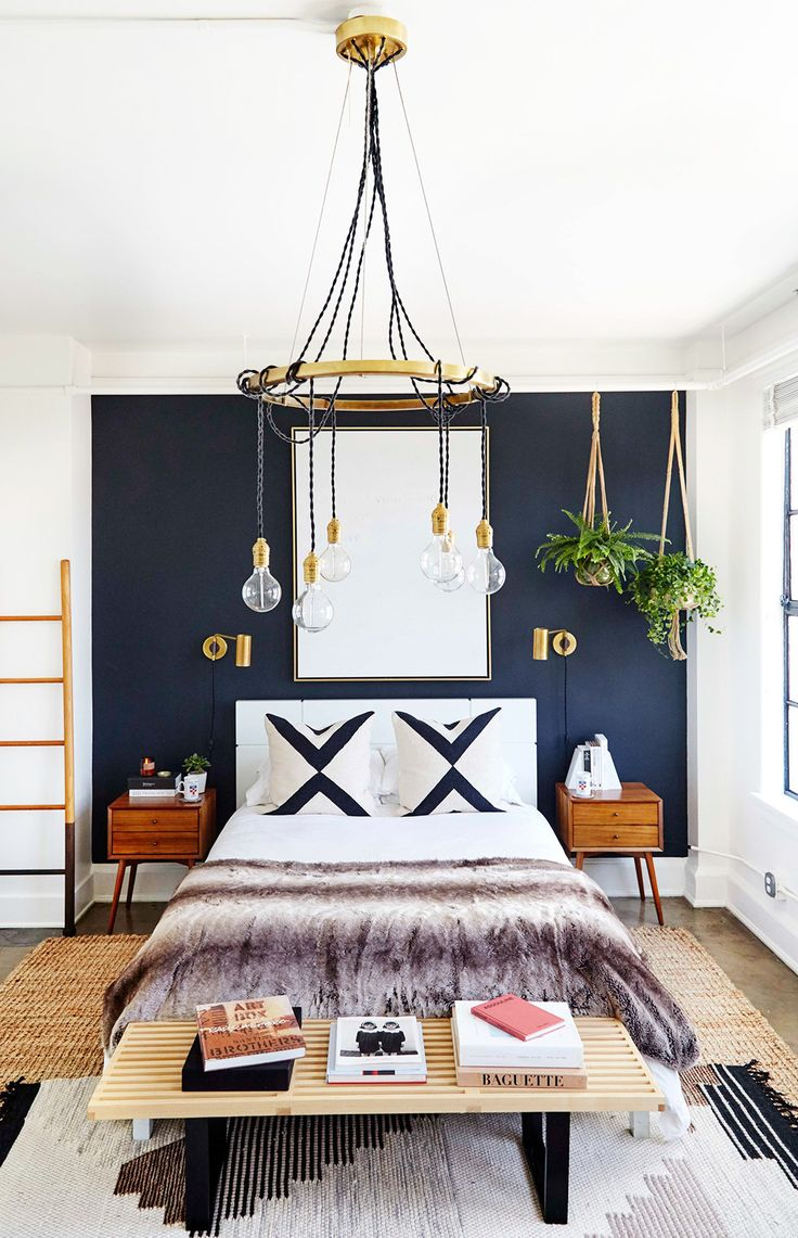 Check out how rug is layered under the bed.    This Is Your Dream Home, According to Instagram via @MyDomaine