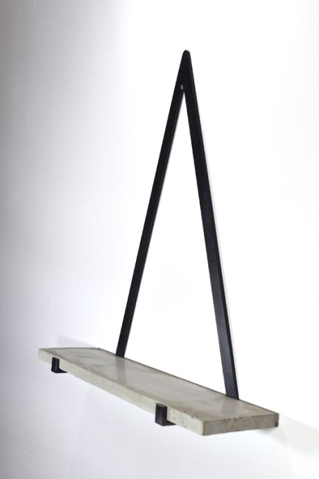 Small Concrete Triangle Shelf - Trouva
