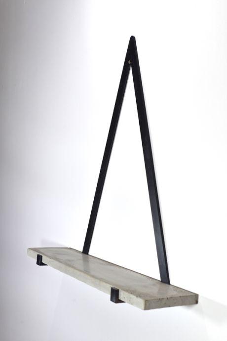 Small Concrete Triangle Shelf - Trouva