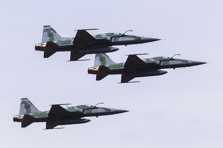 O F-5 é atualmente o único caça supersônico na frota da Força Aérea Brasileira (FAB)