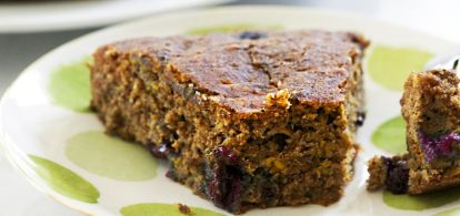 Take the season's abundance of zucchini and whip it up into this sweet, gluten-free cake, which can also be made into muffins. It whips up in just a few minutes and can be made into a more