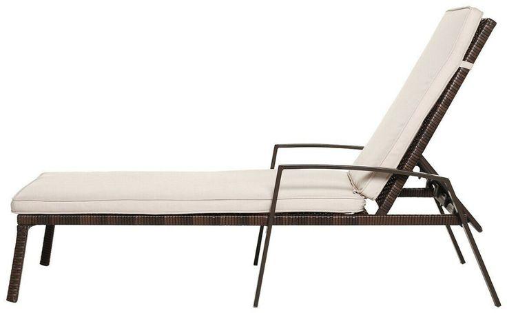 Details about 2 pcs patio rattan adjustable back lounge