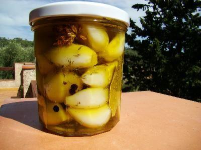 Ail conservé à l'huile d'olive Juste blanchi, pas de cuisson