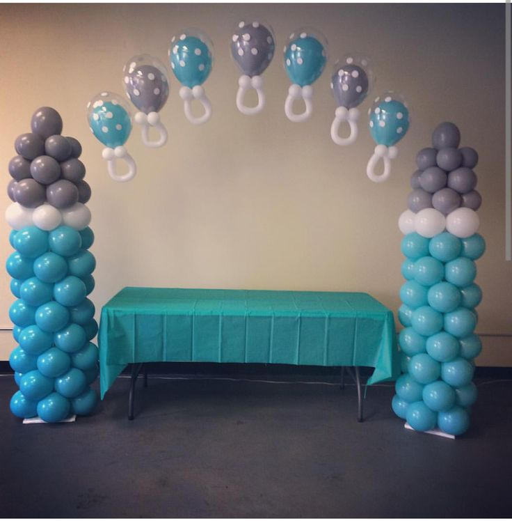 18 best elephant baby shower balloons images on pinterest for Baby shower decoration ideas with balloons