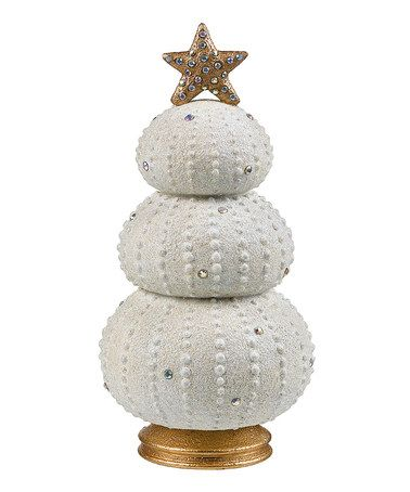 Take a look at this Sea Urchin Christmas Tree Figurine by Grasslands Road on #zulily today!