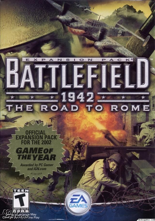 Battlefield: 1942: The Road to Rome is an expansion pack for the Battlefield 1942 video game. It was released February 4, 2003[1] by Electronic Arts and developed by Digital Illusions CE. Six maps featuring battles that took place in Italy were added (Such as Operation Husky and the Battle of Anzio), along with eight vehicles, including the German Bf 110 and the British Mosquito fighter-bombers and the M3 Grant medium tank.